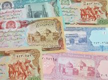 Banknotes of Afghanistan. Paper money stock photo
