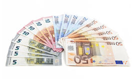 Banknotes as a fan Royalty Free Stock Images