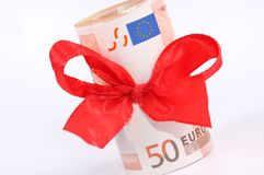 Banknotes as a gift Royalty Free Stock Images