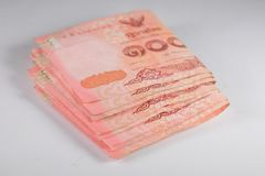 The banknotes. Is currency in Thailand Stock Photos