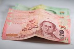 The banknotes. Is currency in Thailand Royalty Free Stock Images