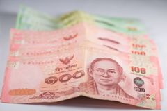 The banknotes. Is currency in Thailand Royalty Free Stock Photos