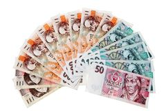 Banknotes and banknotes from the Czech Republic. Currency and banknotes from the Czech Republic in Europe Royalty Free Stock Images