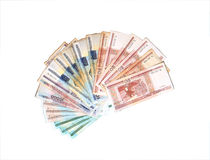 Banknotes of Belarusian rubles Royalty Free Stock Photo