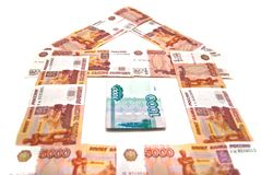 Banknotes building Stock Images