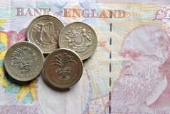 Banknotes and coins. Stock Photography
