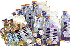 Banknotes and coins of the State of Israel Stock Photo