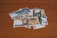 Banknotes Collectible Polish People's Republic Stock Images