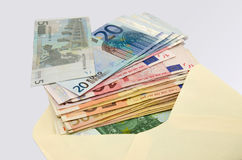 Banknotes in the cover Royalty Free Stock Photo