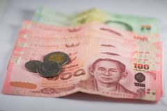 The banknotes. Is currency in Thailand money Royalty Free Stock Photography