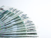 Banknotes denominated 1000 rubles Royalty Free Stock Images