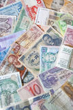 Banknotes of different countries Royalty Free Stock Photography