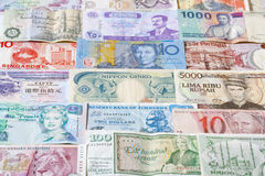 Banknotes of different countries Royalty Free Stock Images