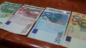 Banknotes from different countries. A Banknotes from different countries stock footage