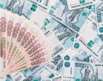 Banknotes of different denomination. Royalty Free Stock Images