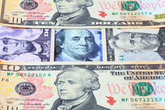 Banknotes of dollars. Business background. Stock Image
