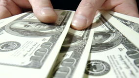 Banknotes dollars stock video footage