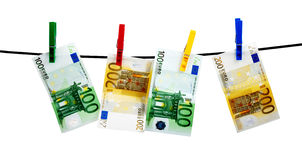 Banknotes drying Royalty Free Stock Images