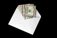 Banknotes in envelope Royalty Free Stock Photo