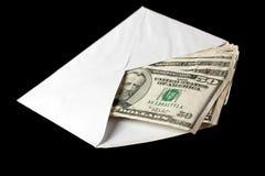 Banknotes in envelope Royalty Free Stock Image