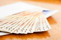 Banknotes in the envelope Stock Photography