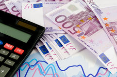 Banknotes of euro. Royalty Free Stock Photography