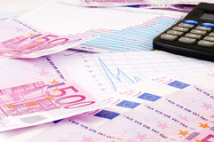 Banknotes of euro Stock Image