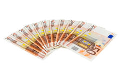 Banknotes of 50 euro Stock Images