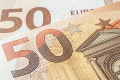 Banknotes of euro money Royalty Free Stock Image