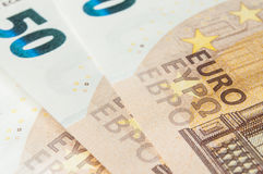 Banknotes of euro money Stock Images