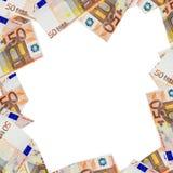 Banknotes of 50 euros Royalty Free Stock Photo