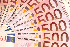 Banknotes of 500 euros Royalty Free Stock Image