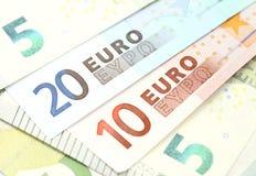 Banknotes euros Stock Photography