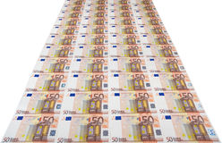 Banknotes of fifty euro. Stock Photos