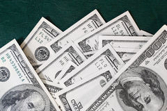 Banknotes on green Royalty Free Stock Photography