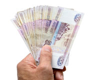 Banknotes in hand Stock Images