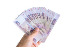 Banknotes in hand Royalty Free Stock Photos