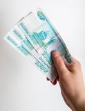 Banknotes in hand Royalty Free Stock Photo