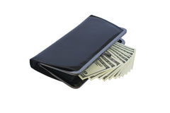 Banknotes and wallets. Banknotes are her fan. Wallet. Isolated Stock Photos