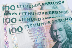 Banknotes hundred swedish krona Stock Images