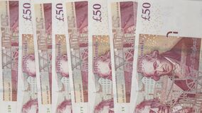 Free Banknotes In Denominations Of Fifty Pounds, Money, United Kingdom Royalty Free Stock Images - 179340549