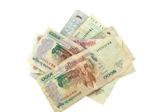 Banknotes of Laos Stock Images