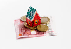 Banknotes money house Stock Images