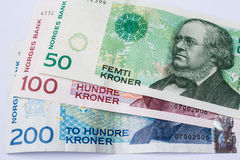 Banknotes norwegian krona Stock Image