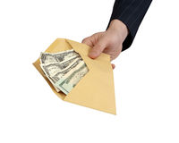 Banknotes offered in Envelope Royalty Free Stock Image