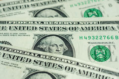 Banknotes in one American dollar Stock Photography