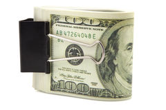 Banknotes of one hundred dollars Stock Photography