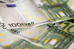 Banknotes in one hundred euros Royalty Free Stock Images