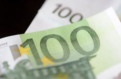 Banknotes in one hundred euros Royalty Free Stock Photography