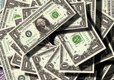 Banknotes one US dollar stock image